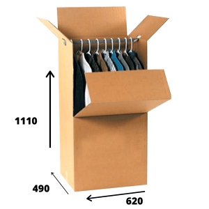 port-a-robe moving boxes with rail